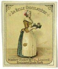 La Belle Chocolatier Walter Baker & Co Chocolates Victorian Label Trade Card