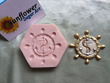 NEW Ship Wheel & Anchor Mold (SM-163) for Cake Decorating, Sugar Flower, Fondant