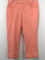 New Direction Weekend Capri Pants Womens Size 12 Cuffed Stretch Pockets Cropped