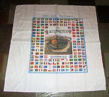"RARE 1988  Seoul Korea Olympics Country Flag Commemorative 34"" Silk Scarf"