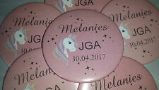 B156 -  Einhorn Unicorn Buttons JGA Braut Junggesellinnenabschied  Button