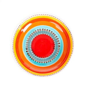CERAMICHE DE SIMONE PANTELLERIA Soup Plate HANDMADE Ceramic Round Made in Italy