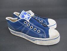 Vintage Retro Converse in Blue Canvas Shoes 60s/70s Kids' Size: 2.5