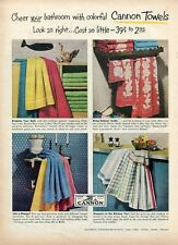 1952 Print Ad of Cannon Mills Bathroom & Kitchen Towels