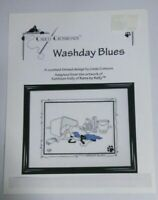 Calico Crossroads  Kats by Kelly Counted Cross Stitch Chart WASHDAY BLUES