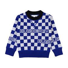 RRP€225 BURBERRY CHILDREN Merino Wool Jumper Size 8Y Jacquard Knit Check Pattern