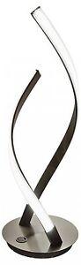 LED Double Twist Table Lamp Satin Steel (HEIGHT 49CM) - 3 Brightness settings