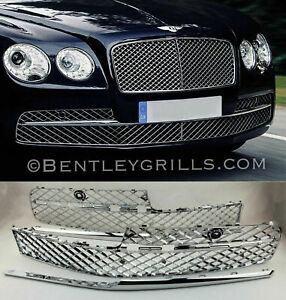 BENTLEY FLYING SPUR CHROME LOWER GRILLS OEM 2013-2017