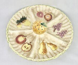 Fruit Designed Platter With 4 Divided Trays Porcelain Japan 10 inch