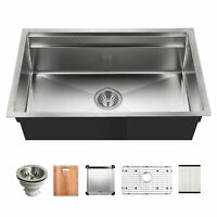 "Houzer NVS-5200 Novus 31-9/16"" Undermount Single Basin Stainless - Stainless"