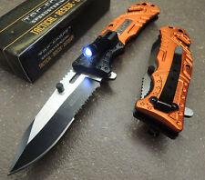 TF835EM Couteau de Secours EMT Tac Force A/O Acier 3Cr13 Lampe Brise Vitres & Co