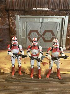 "Star Wars Shock Trooper Clone Saga 3.75"" Figure Coruscant Guard x 3"