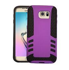 Samsung Galaxy S6/G9200 Shockproof caso. Protectora 2 en 1 Funda púrpura híbrido