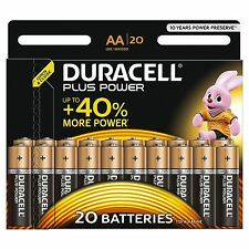 20x Duracell Pilas Alcalinas AA Plus Power Duralock celda LR6 no recargables
