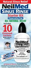 NeilMed Sinus Rinse Starter Kit - BOTTLE + 10 Premixed Sachets *MVC* EXP:10/21
