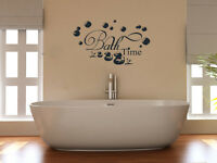 Bath Time Bathroom Shower WC Wet Room Decal Wall Art Sticker Picture