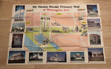 VTG My Weekly Reader Primary Map United States Washington DC CS Hammond