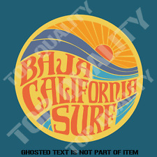 BAJA CALIFORNIA SURF DECAL STICKER GREAT 4 WOODY SURFING RAT ROD DECALS STICKERS