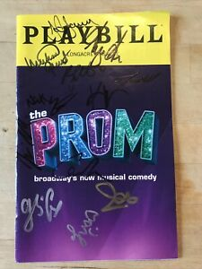 Cast Signed THE PROM July 2019 Broadway AUTOGRAPHED Playbill! Like NETFLIX Movie