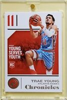 Trae YOUNG 🔥 Atlanta HAWKS 🏀 2018-19 PANINI CHRONICLES * RC * ROOKIE CARD