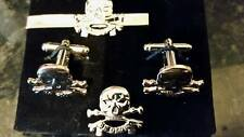 17/21 Lancers Gold colr'd Cufflink/ Tie slide/ lapel pin set, Queens Royal,Tanks