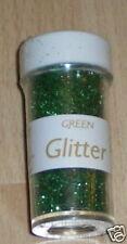 CREATE & CRAFT Glitter GREEN Ultra fine Shaker pot 5588 CHRISTMAS St Patricks