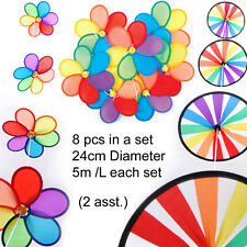 Brand new Windmill Chain Bunting party decor 5 Metre long 8 windmill 2 designs