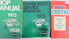 1973 CHEVROLET VEGA FISHER BODY SERVICE MANUAL ORIGINAL  EN ANGLAIS