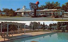Bamberg South Carolina~Ziggy's Motel~Pool With Shelter~1950s Cars~Postcard