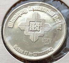 1974 Winnipeg Manitoba $1 Trade Token - Centennial Dollar