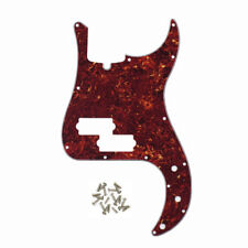 NEW 4-String P Bass Pickguard 13Holes 4Ply Red Tortoise Shell for Precision Bass