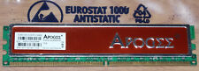 2GB DDR2 RAM PC2-6400 800MHz CL4 4-4-4-12 APOGEE au2g732-800h101 CL4@1,85v