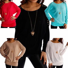 Lange Markenlose Damen-Pullover & Strickware mit Rundhals ohne Muster