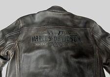 HARLEY DAVIDSON DISTRESSED BROWN LEATHER STEADFAST JACKET 97029-11VM LARGE  157