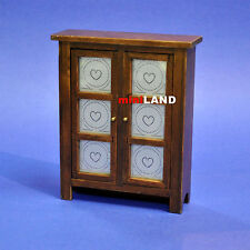 Walnut PIE Safe 1:12 Scale dollhouse miniature wood+metal doors Kitchen room