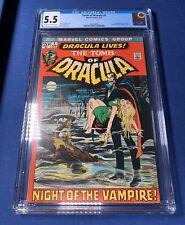 Marvel Comics Tomb of Dracula #1 1972 CGC 5.5 1st Appearance of Dracula Key WP