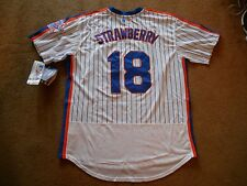 Darryl Strawberry #18 New York Mets STITCH White P/O Jersey Men XL TAG NEW SHARP
