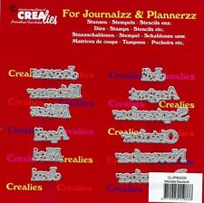Stanz-schablone cutting die Monate Kalender Planer Journal CREAlies CLJP602DE