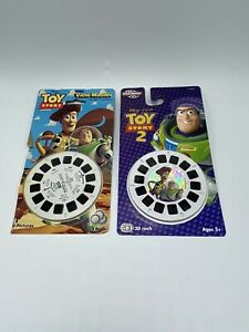 Lot of View-Master Reels Toy Story 1995 Open & Toy Story 2 2004 Sealed Hologram