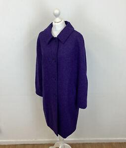 Damsel In A Dress Wool Coat Purple Sz 14 UK Ladies BNWT