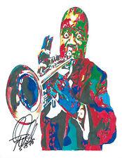 Louis Armstrong, Satchmo, Pops, Trumpet, Cornet, Dixieland, 8.5x11 PRINT w/COA