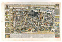 Biblical Maps of Jerusalem and Ancient Templar Map, Shows Old Sites, Two Maps