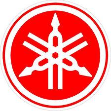 "#m117 (2) 4"" Yamaha Logo Motorcycle Drum Snowmobile decal sticker red"