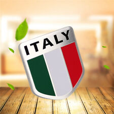 Car Auto Truck ITALY Italian Flag Shield Emblem Badge Decals Sticker Metal