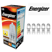 5 X ENERGIZER G9 33W (40W) DIMMABLE Halogen bulb 460lm Warm White Capsule Lamp
