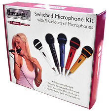 More details for mr entertainer karaoke microphone kit with 5 colours black white blue red yellow