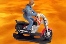 Harley + Eje de Balancín Figura Hierro Forjado Motocicleta Ponga para Arriba