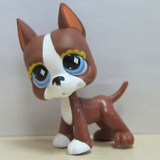 Cute Littlest Pet Shop #588 LPS Brown and White Great Dane DOG Puppy LPS