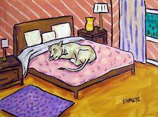 cheetah sleeping bedroom art Print 13x19 big cat of painting Jschmetz