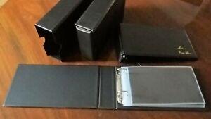 MERLIN FDC First Day Cover Album BLACK + 20 Sleeves + SLIP CASE - Brand New